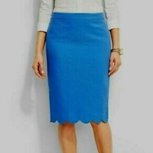 Talbots Scalloped Pencil Skirt Size 12
